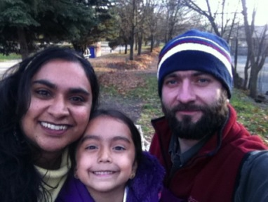 Archana and Isabella Tkachuk with Ruslan who is our translator, friend, driver and host