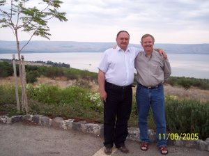 Sergei and Brian in Israel