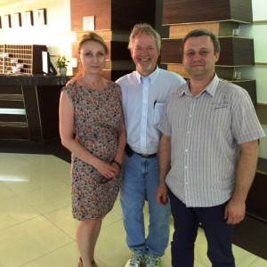 Vitaliy, Svetlana and Brian