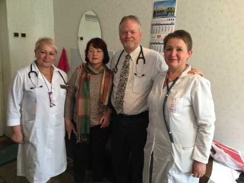 With Dr. Tatiana on left and with her colleague and patient